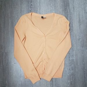 Peach Divided Cardigan Size 4